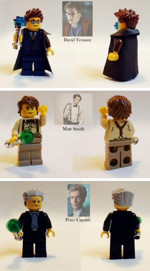 Make Your Own Time Traveling Adventures With Custom Doctor Who Lego Figures
