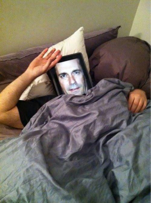 Jon Hamm,ipad,hd,mask,funny