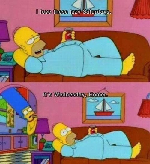 homer simpson lazy the simpsons funny - 8074451456