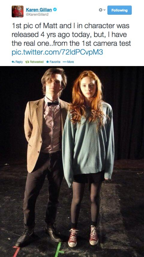 behind the scenes karen gillan 11th Doctor doctor who - 8074469376
