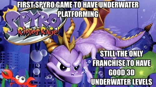 underwater levels,video games,spyro