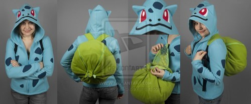 hoodie,bulbasaur,backpack