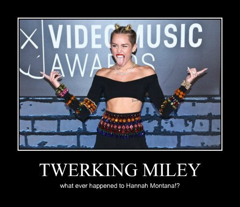 TWERKING MILEY what ever happened to Hannah Montana!?