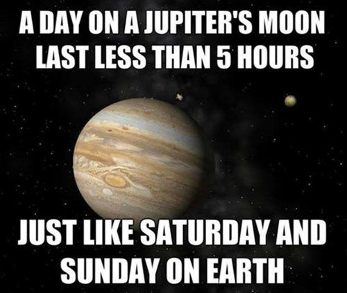 monday thru friday,jupiter,work,Astronomy,weekend