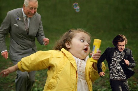 prince charles,one direction,harry styles,hurry styles,Brit Awards,running memes,chubby bubbles