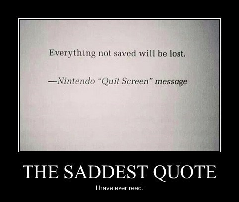 save quote funny nintendo - 8075610624