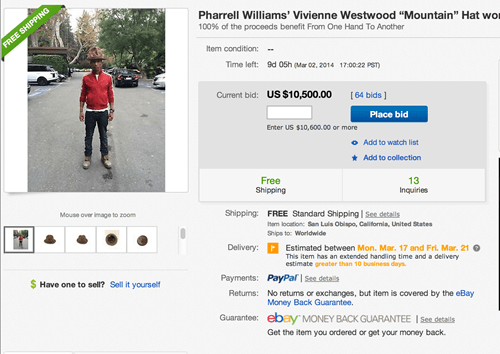 pharrell poorly dressed hat ebay g rated - 8075644160