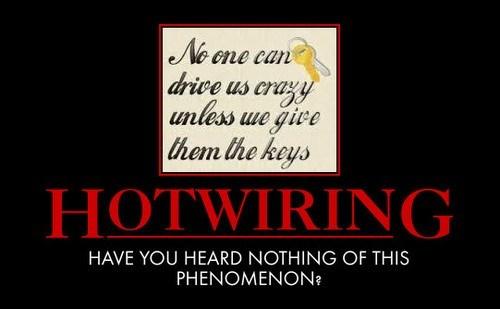 hotwiring cars metaphor funny - 8075724032