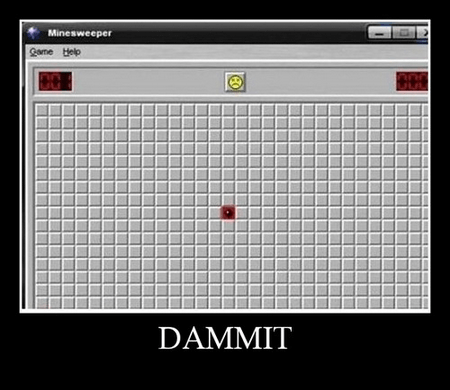 bomb,Minesweeper,bad luck,video games,funny