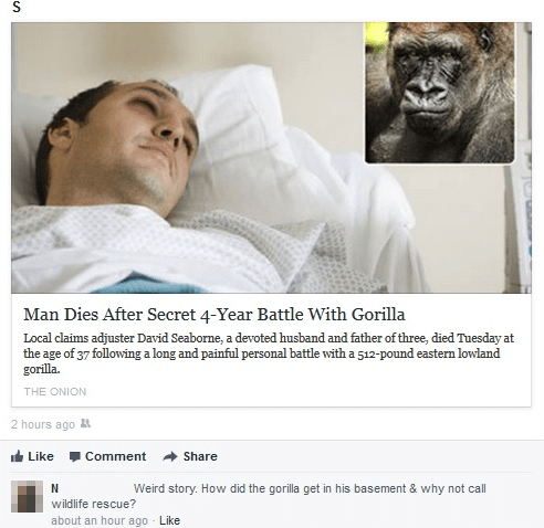 news the onion facepalm gorilla failbook g rated - 8075979008