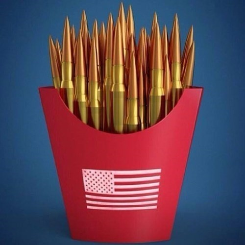 freedom fries McDonald's fries bullets fast food - 8075993344