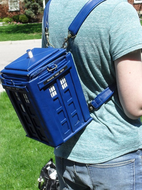 tardis,nerdgasm,doctor who,backpack