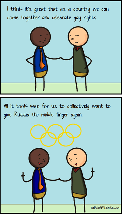Sochi 2014,gay rights,web comics