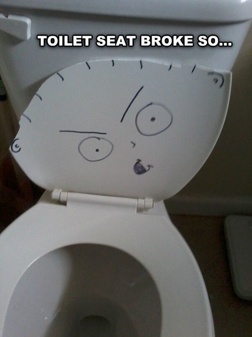 family guy,stewie,toilet,broken