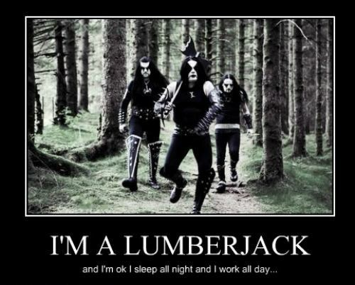 death metal,song,lumberjack,funny