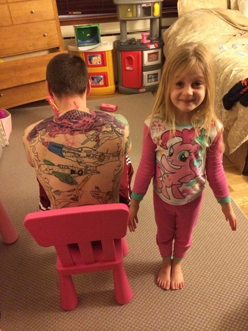 kids,tattoos,parenting,coloring,g rated
