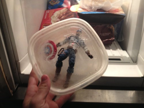 action figures,freezer,captain america