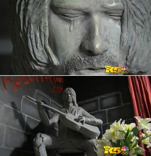 statue,kurt cobain,nirvana,derp