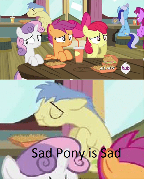 cutie mark crusaders,forever alone,sad pony