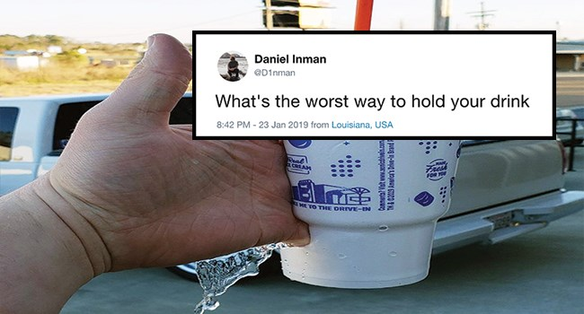 drinks funny pics holding a drink uncomfortable funny tweets awful - 8078853