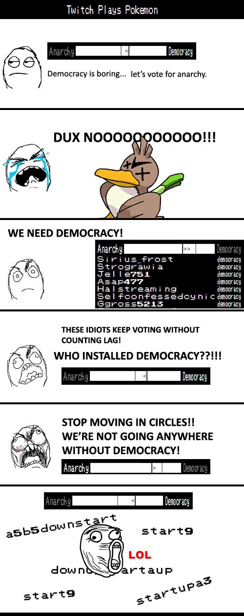 anarchy DUX Pokémon democracy twitch plays pokemon - 8078926080