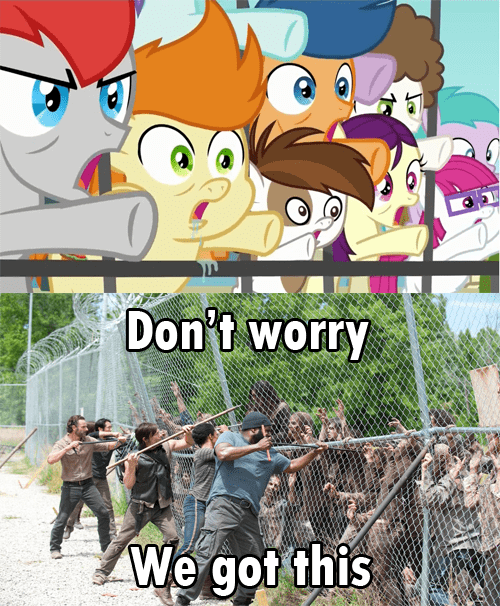 mlp season 4 The Walking Dead filly - 8079026688