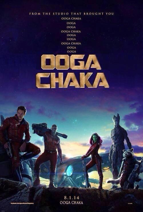 james gunn guardians of the galaxy ooga chaka