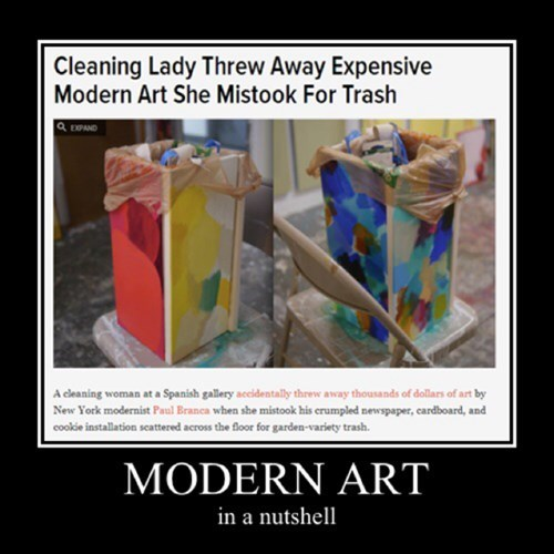 cleaning lady funny modern art - 8079668736