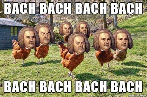 Bach chicken composer funny puns - 8079694080