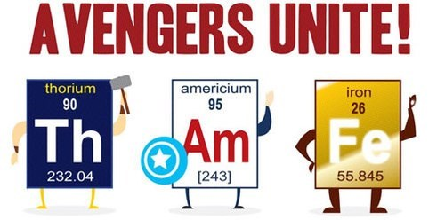 avengers Chemistry elements science Thor