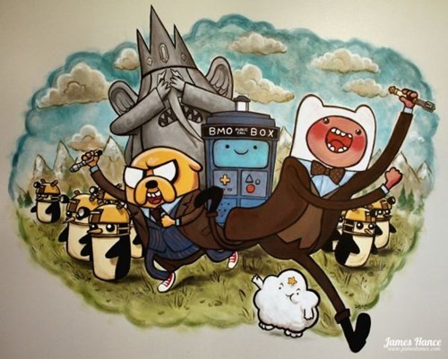 Artist James Hance Made This 'Adventure Timey-Wimey' Mural for His Daughter