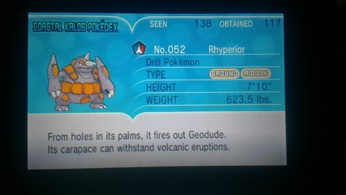 Pokémon,pokedex entries,rhyperior