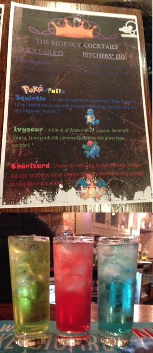 cocktails,IRL,drinks,Pokémon,super effective