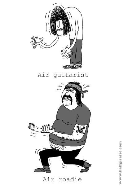air guitar Music web comics - 8080738304