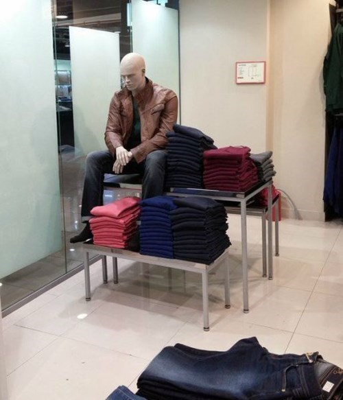 monday thru friday mannequin retail memes IRL sad keanu work - 8080826880