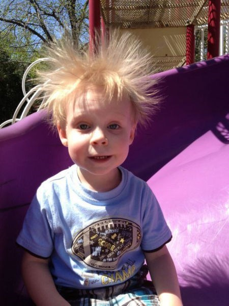 kids slide parenting static electricity