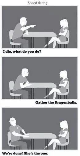 dragonball z,comics,funny,speed dating,g rated