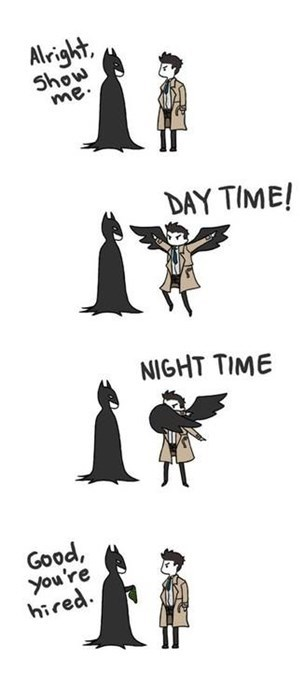 batman,comics,castiel,wings