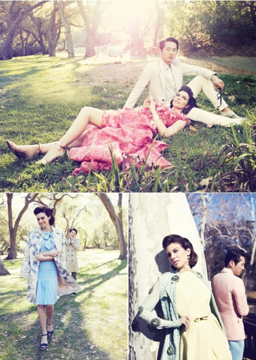 fashion,Steven Yeun,Lauren Cohan