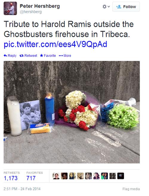celeb Ghostbusters harold ramis twitter - 8081874688