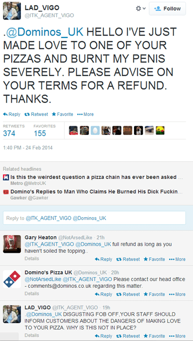 bad idea,dominos,twitter,failbook