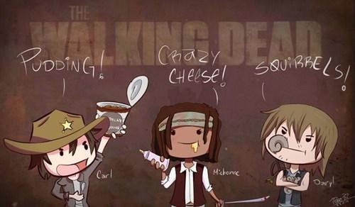 carl grimes daryl dixon Fan Art michonne The Walking Dead - 8081914624