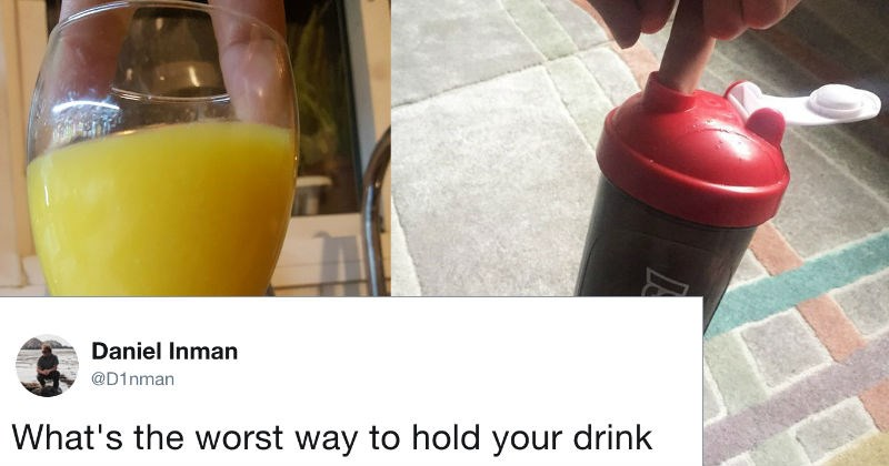 Twitter worst ways to hold a drink