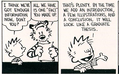 calvin and hobbes funny paper thesis - 8082013696