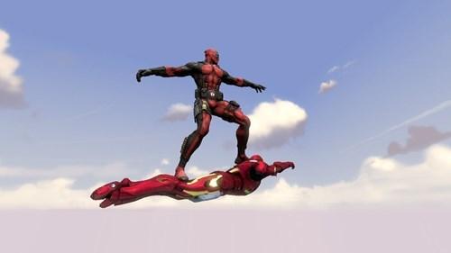 deadpool iron man ride - 8082179584