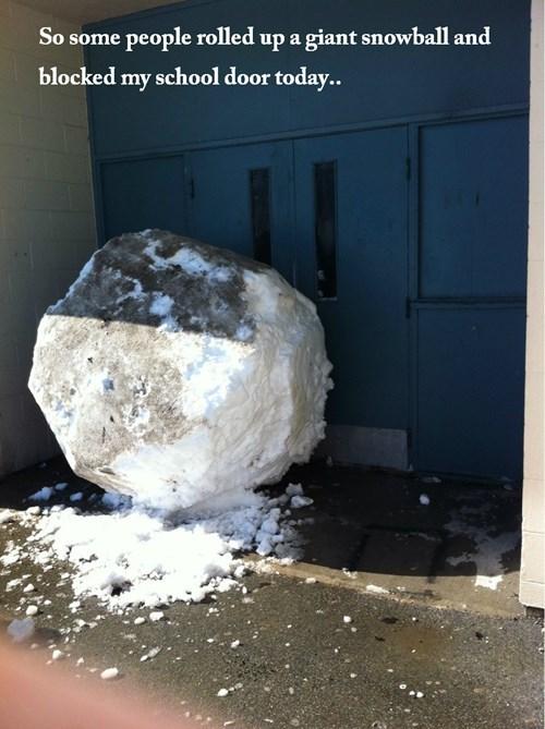 snow snowballs school - 8082199552