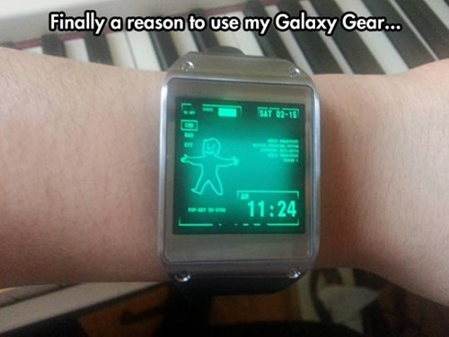 pip boy,video games,fallout,Samsung,galaxy gear
