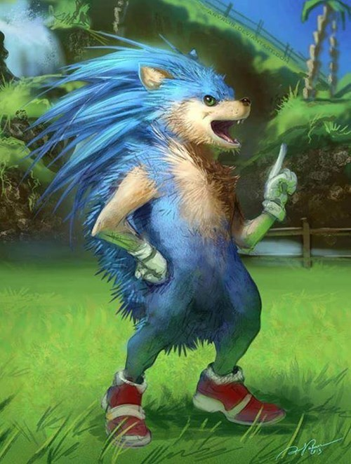sonic the hedgehog,realism,sonic,art