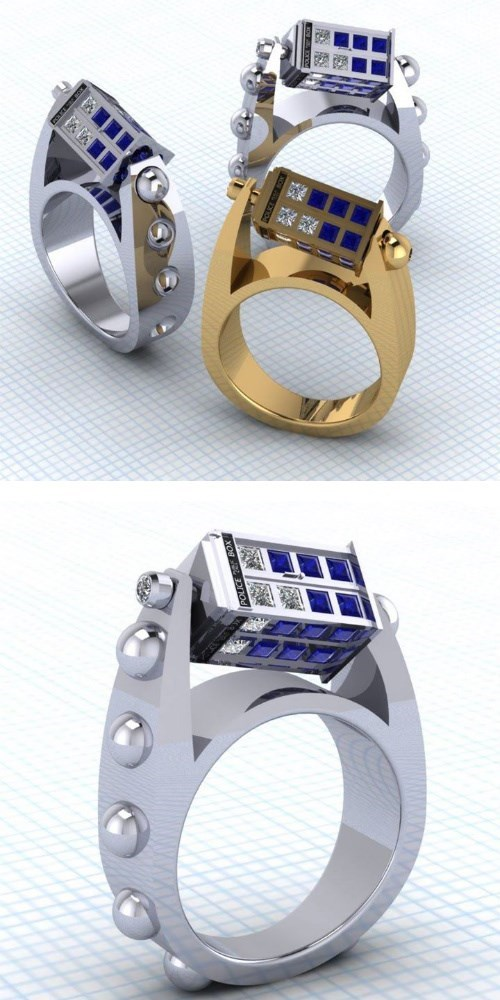 Jewelry rings tardis - 8082336256