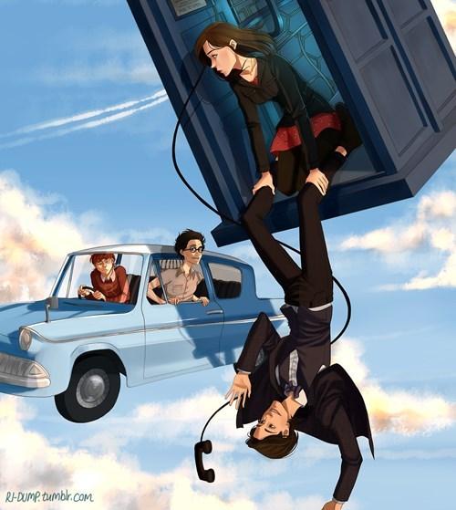 doctor who Harry Potter Fan Art - 8082339840